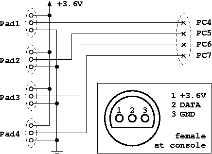 Wiring diagram for the N64 controller adapter (n64pad.png)
